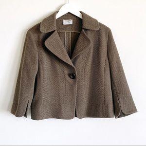 AKRIS punto Wool Textured Blazer sz 10
